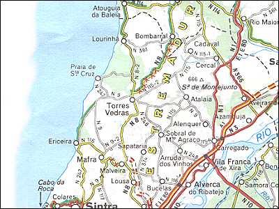 Portugal Maps Lisbon Coast Costa Prata - Portugal map coast