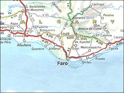 Portugal Maps Algarve Faro - Portugal map coast