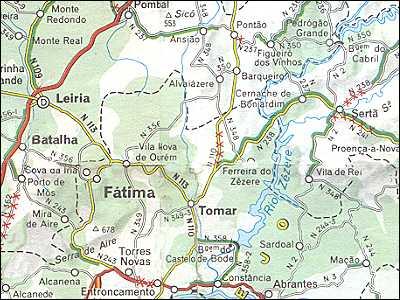 Portugal Maps Costa Prata Fátima - Portugal map tomar