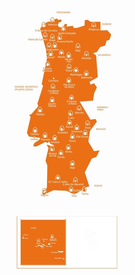 mapa das pousadas de portugal Mapa Pousadas De Portugal | thujamassages mapa das pousadas de portugal